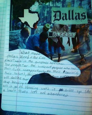 Dallas Bleeds Antonio Juarez writers about events of July 7th in Dallas.